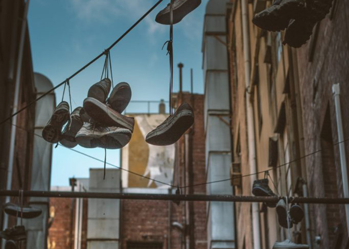 shoes on power line